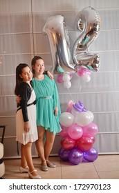 Secular 12-year-old Israeli teenager celebrating her Bat Mitzvah with her older sister