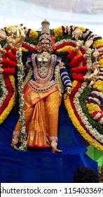 Secunderabad Telangana India August 2nd 2018 Indian Goddess at a festival
