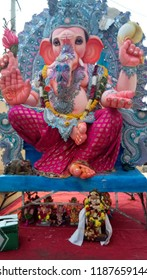 Secunderabad Telangana India September 23 2018 At an Indian festival of Lord Ganesha