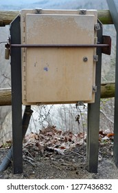 A secure camera housing protected from vandalism, tampering and weather elements providing live webcam video from mammoth Cave National Park to aid in air quality monitoring.