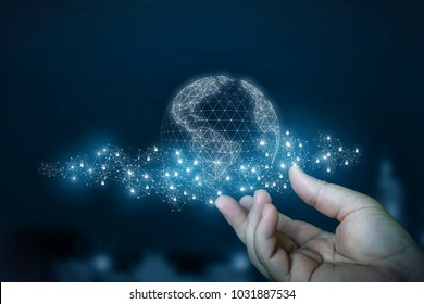 Secure connections in the global network shows the hand.