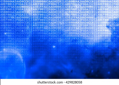 Secure data concept: hex-code digital data background. Illustrates big data, information technology, network or internet security idea.