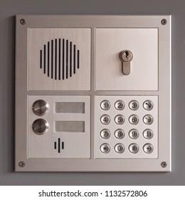 secure intercom building access panel
