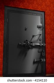 secure metallic door