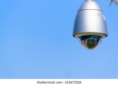 Security Camera in the blue sky