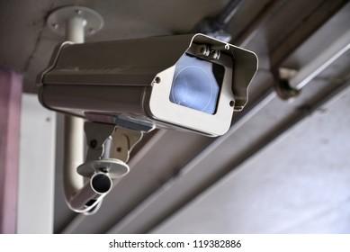 Security Camera or CCTV at car park