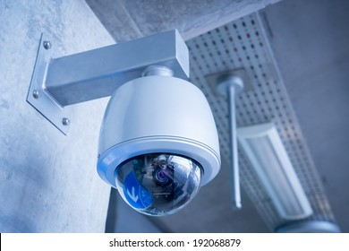 Security Camera, CCTV on location at airport