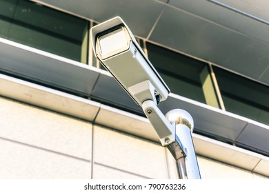 Security camera in city
