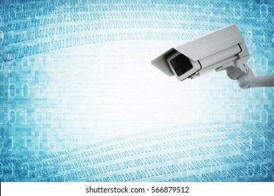 Security camera concept for big brother surveillance or internet computer security