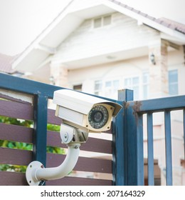 security camera in front of house