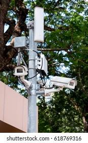 security camera in garden