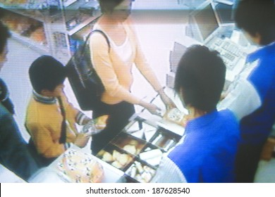 security camera image of convenience store