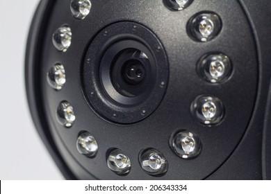 Security camera. IP Camera. Macro