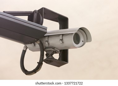 Security camera, isolated on a solid background