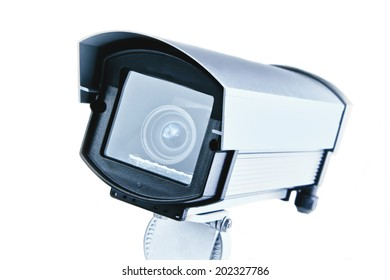 Security camera isolated on white.