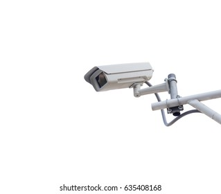 security camera isolated on white background with clipping path