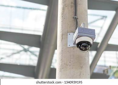 Security camera on the Concrete poles