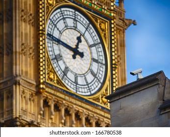 Security camera at Westminster - parliament watching Big Ben