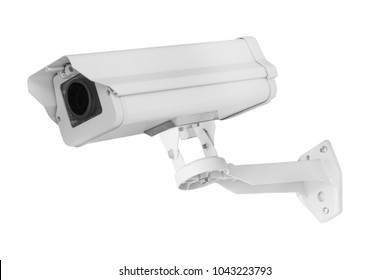 Security camera(cctv) isolated on white background - clipping paths