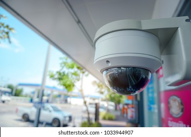 Security CCTV camera at front of ATM.Security systems and protection from theft.Intelligent camera can record video at any time by automation.Digital Eyes.Surveillance.Modern technology