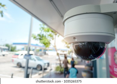 Security CCTV camera at front of ATM.Security systems and anti-theft protection.Intelligent camera can record video at any time by automation.Digital Eyes.Surveillance.Technology
