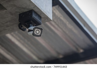 Security CCTV camera in home building