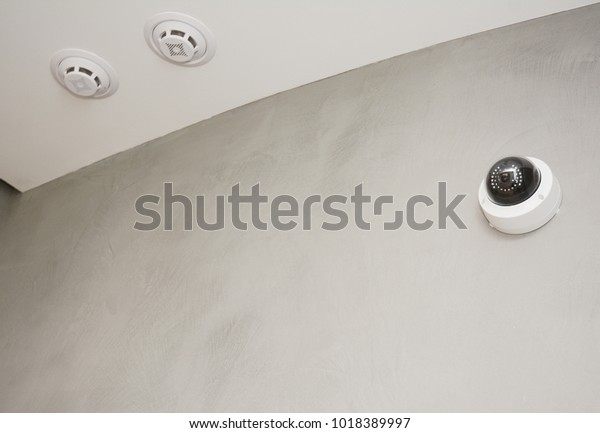 Security Cctv Camera Mounted On Room Stock Photo Edit Now 1018389997