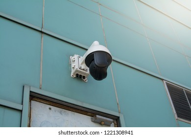 the Security CCTV camera in office building