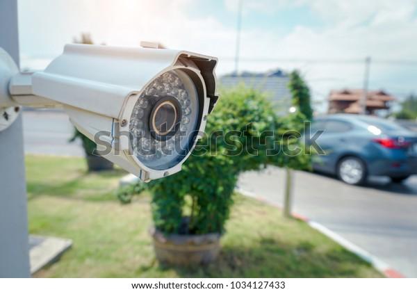 Security Cctv Camera On Side Highwaycamera Stock Photo Edit Now
