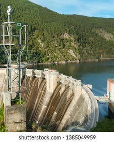 Security CCTV camera or surveillance system in a dam, Surveillance camera Anti-terrorist system concept.