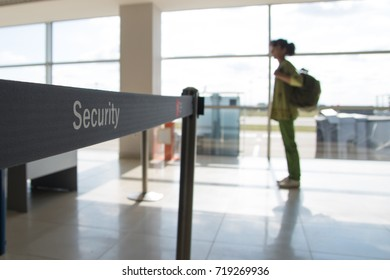 Security check of  luggage and  passengers in the airport