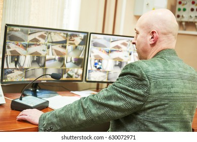 security concept. video monitoring surveillance security system