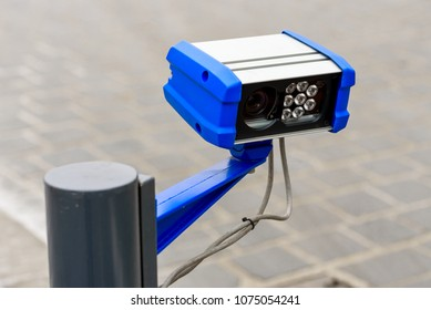 Security and control system with camera for vehicle arrival