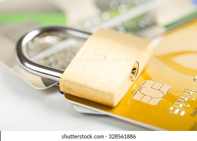 security credit card with locker concept.