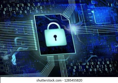 IT security / data backup background