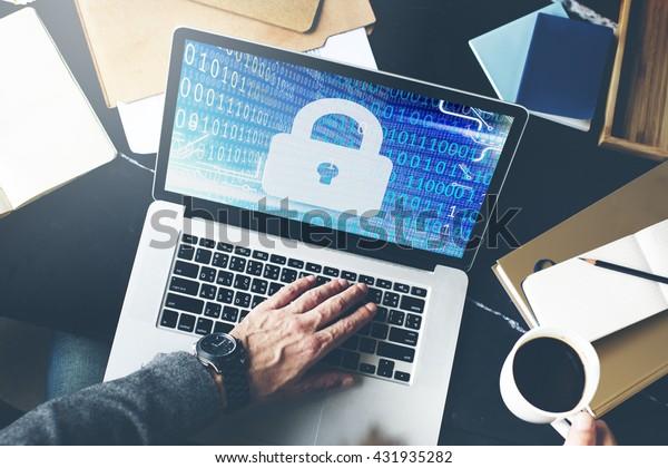 Sicherheitsdatenschutzinformationen sperren Private Konzepte speichern