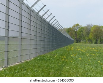 Security fence of an international airport