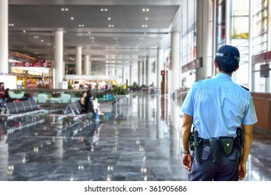 Security guard in airport