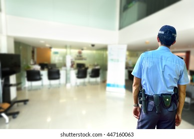 Security guard in Bank