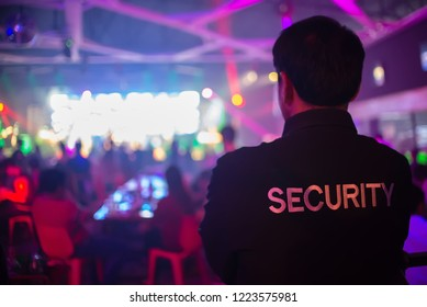 security guard at the concert