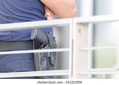 Security guard gun, urban concepts