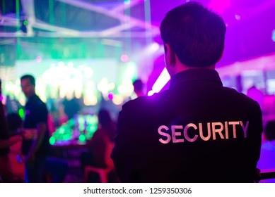 security guard in night club.