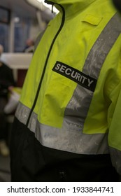 Security guard patrolling at event place inside building