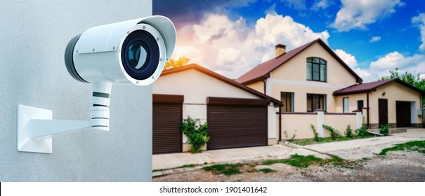 Security guard system video surveillance camera for private property