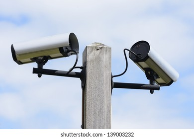 Security monitoring with video surveillance cameras