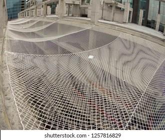 Security net building construction site