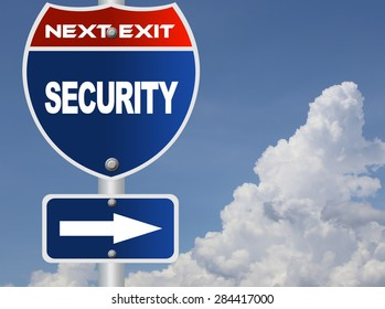 Security road sign