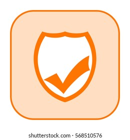 Security shield icon with check mark