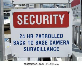 Security Sign at Marina 1