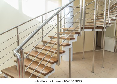 Security stairs in a building. Safety concept.